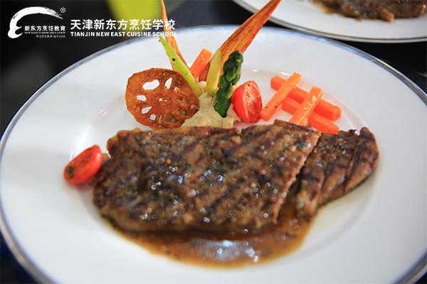 天津新东方烹饪学校西餐阶段性考核