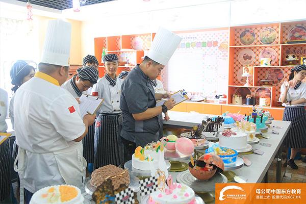 天津新东方烹饪学校西点阶段性考核!